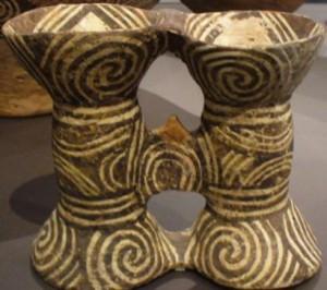 Vas dublu de ceremonie, Cucuteni (Vorniceni, 4100-3800 î.Hr.) Muzeul Județean Botoșani
