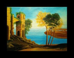 """ In port la Napoli "" Catalin Relenschi-pictor"